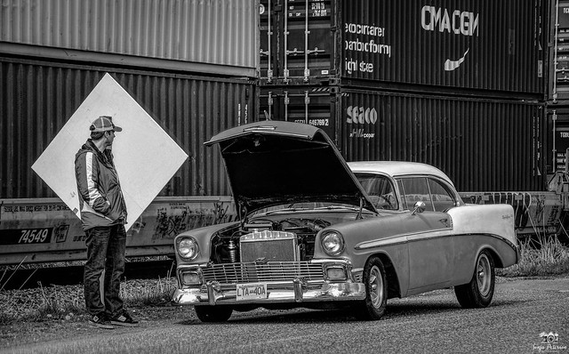 """""""A BAD CAR DAY""""  '56 Chevrolet Bel Air  Two-Door Hardtop (Explored-Thank-you)"""