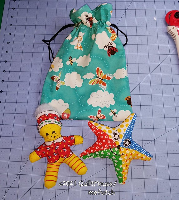 2021-04-16 WIP Drawstring Bag & Stuffies