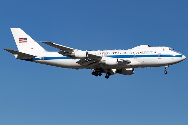 73-1677 United States Air Force Boeing E4-B London Stansted