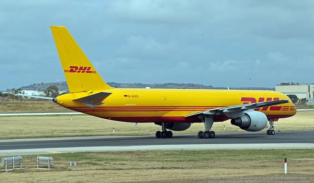 D-ALEO LMML 15-04-2021 DHL (European Air Transport) Boeing 757-2Q8(SF) CN 29443