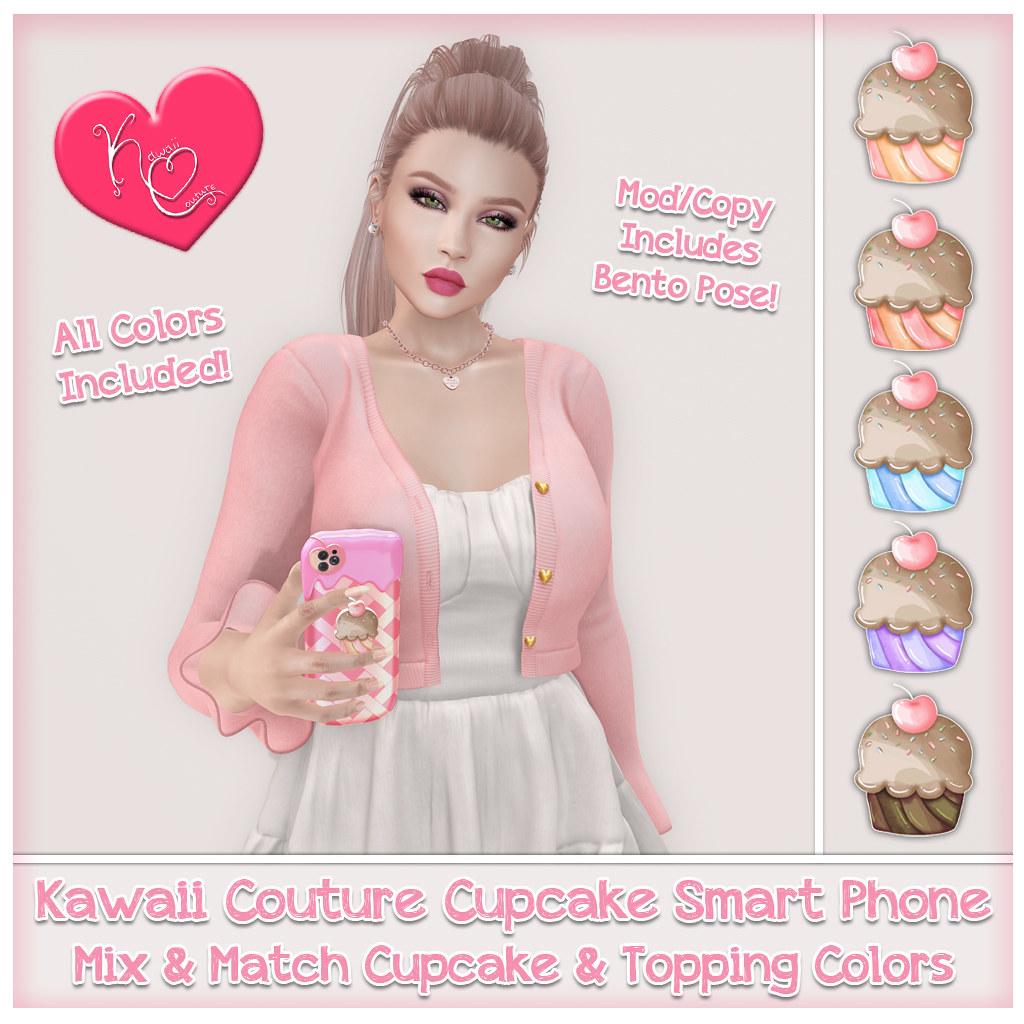 Kawaii Couture Cupcake Phone Ad ALL