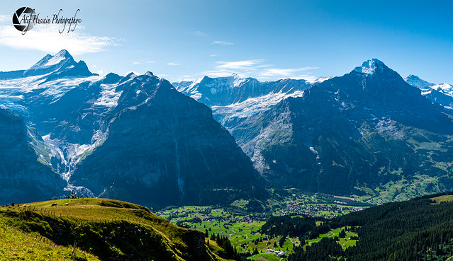 Incredible Views of Swiss Alps from Top of First Cliff Walk in Grindelwald, Switzerland 🇨🇭