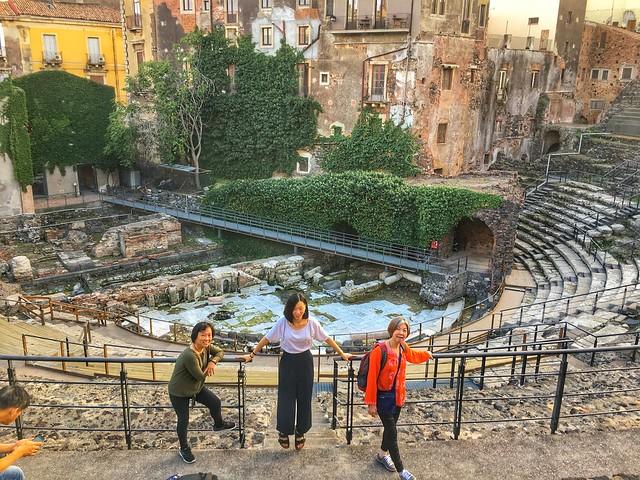 Roman Theatre, Catania, Sicily 意大利