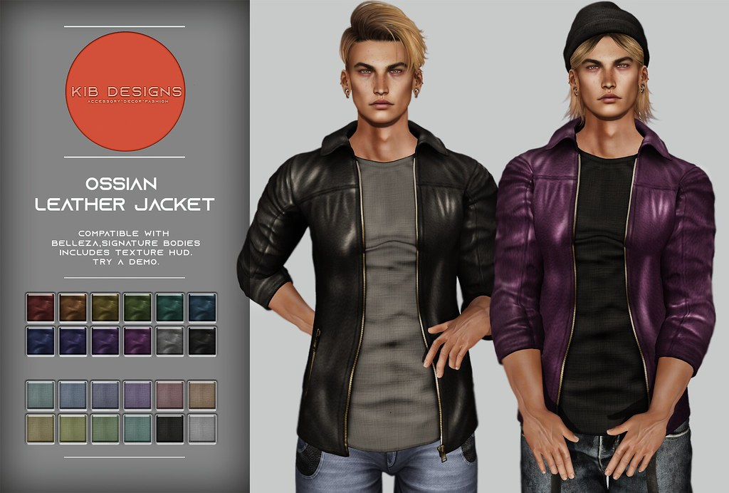 KiB Designs – Ossian Leather Jacket @Sense Event 18th April