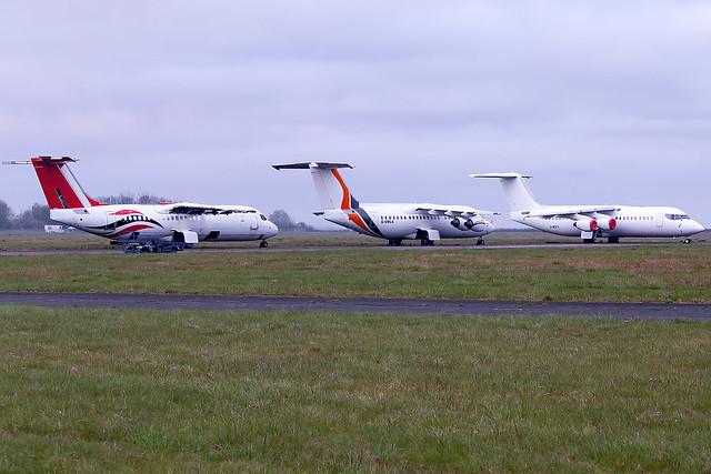 BAE 146 Aircraft Line Up Cranfield