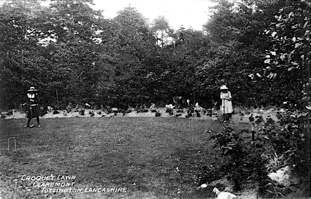 Croquet Lawn Claremont Old Postcard