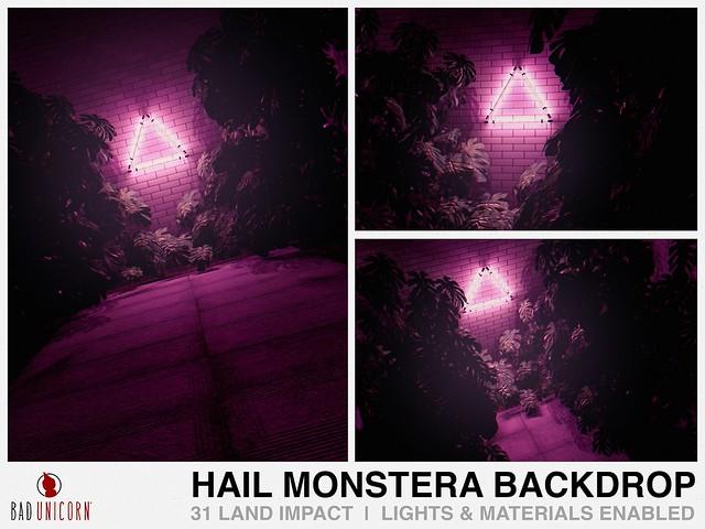 NEW! Hail Monstera Backdrop @ KUSTOM9