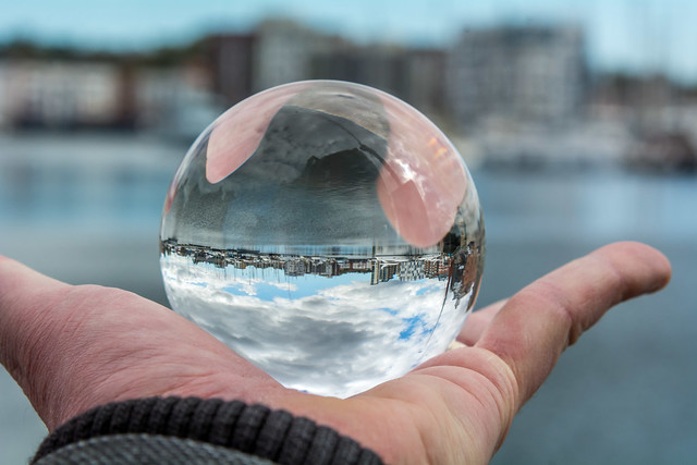 Ipswich waterfront lensball