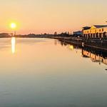 Sun reflections at Preston Docks
