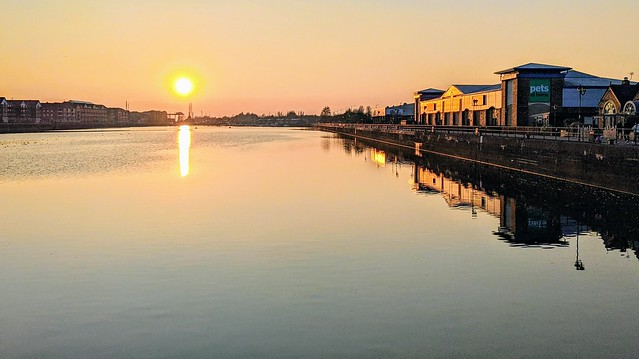 Sun reflections at Preston Docks