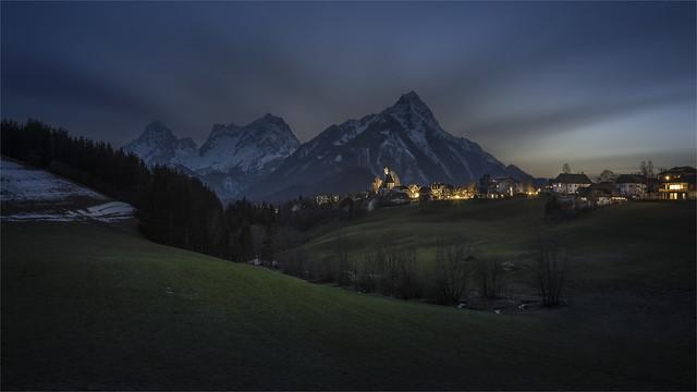 _DSC32098 Vorderstoder Village at night / Upper-Austria
