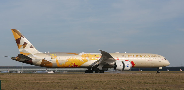 Boeing 787-10 Etihad Airways - Choose China livery