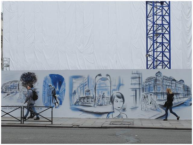Stage curtain — Worksite La Samaritaine