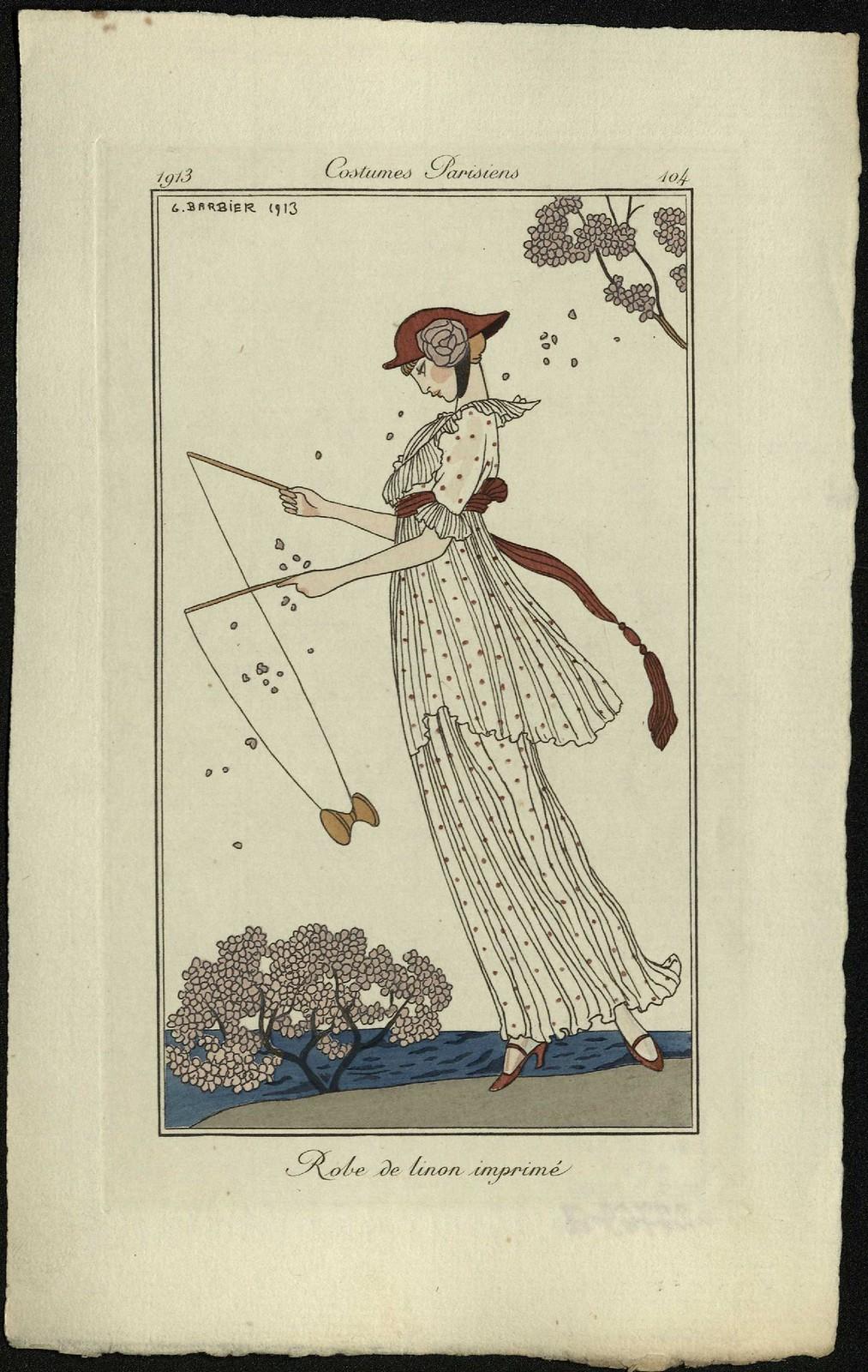 Платье из льняной ткани с принтом
