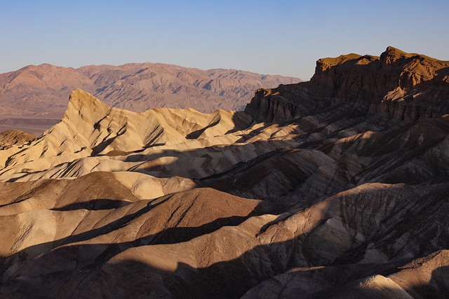 The iconic Zabriskie Point at first light