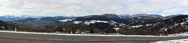 Panoramique des  Hautes-Vosges