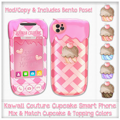 Kawaii Couture Cupcake Phone Ad Pink