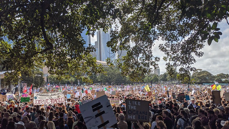 Climate strike, The Domain, Sydney