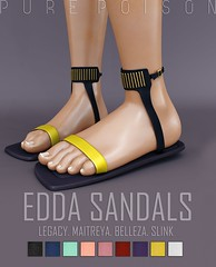 Pure Poison - Edda Sandals - AD