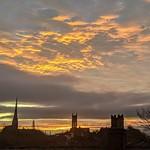Red sky in the morning over Preston