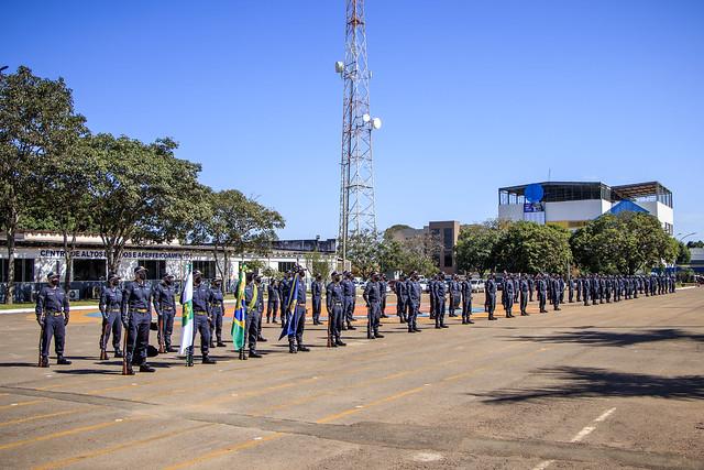 Formatura para a apresentação do Uniforme operacional da turma do Curso de Formação de Soldados - PMDF