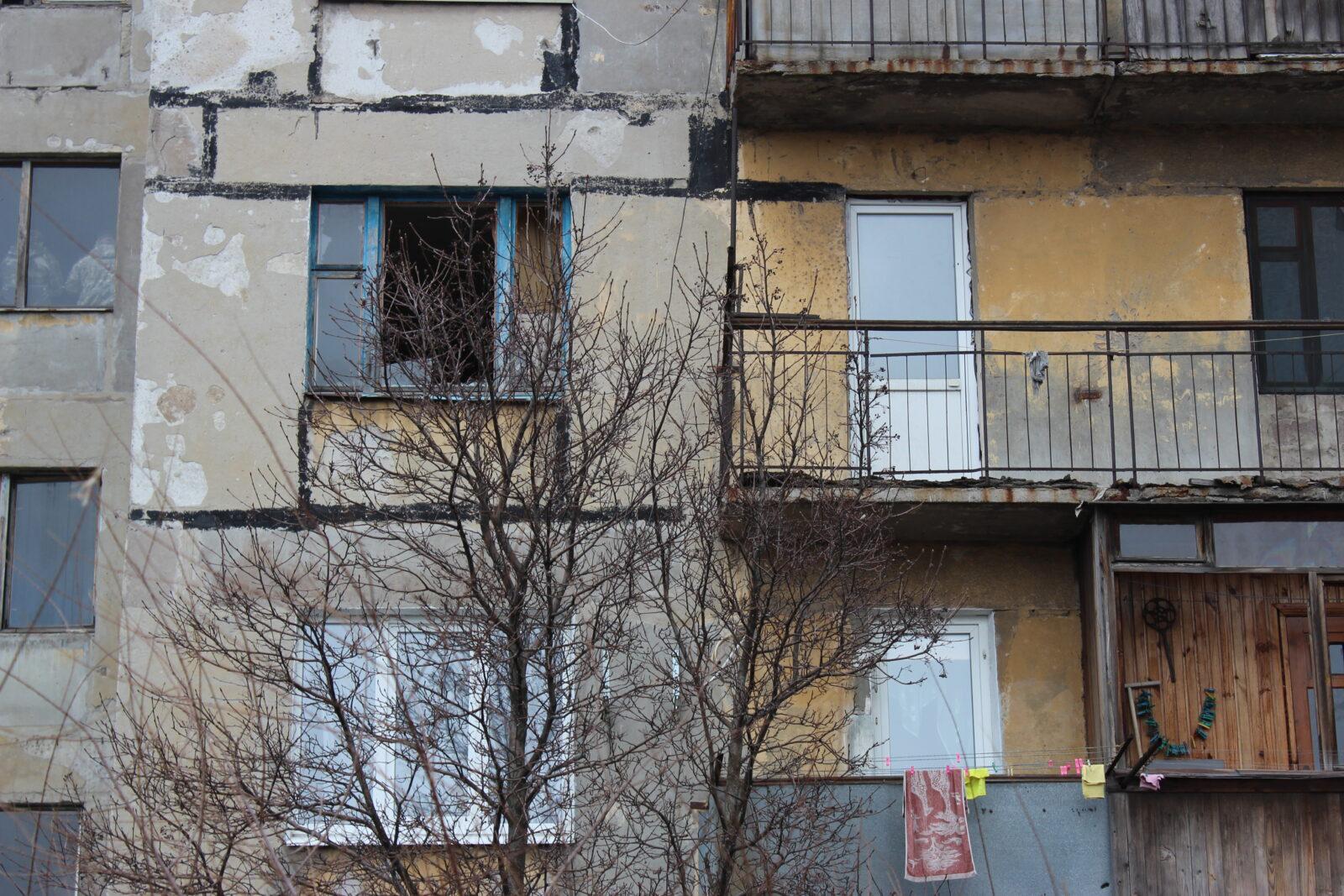Immeuble endommagé