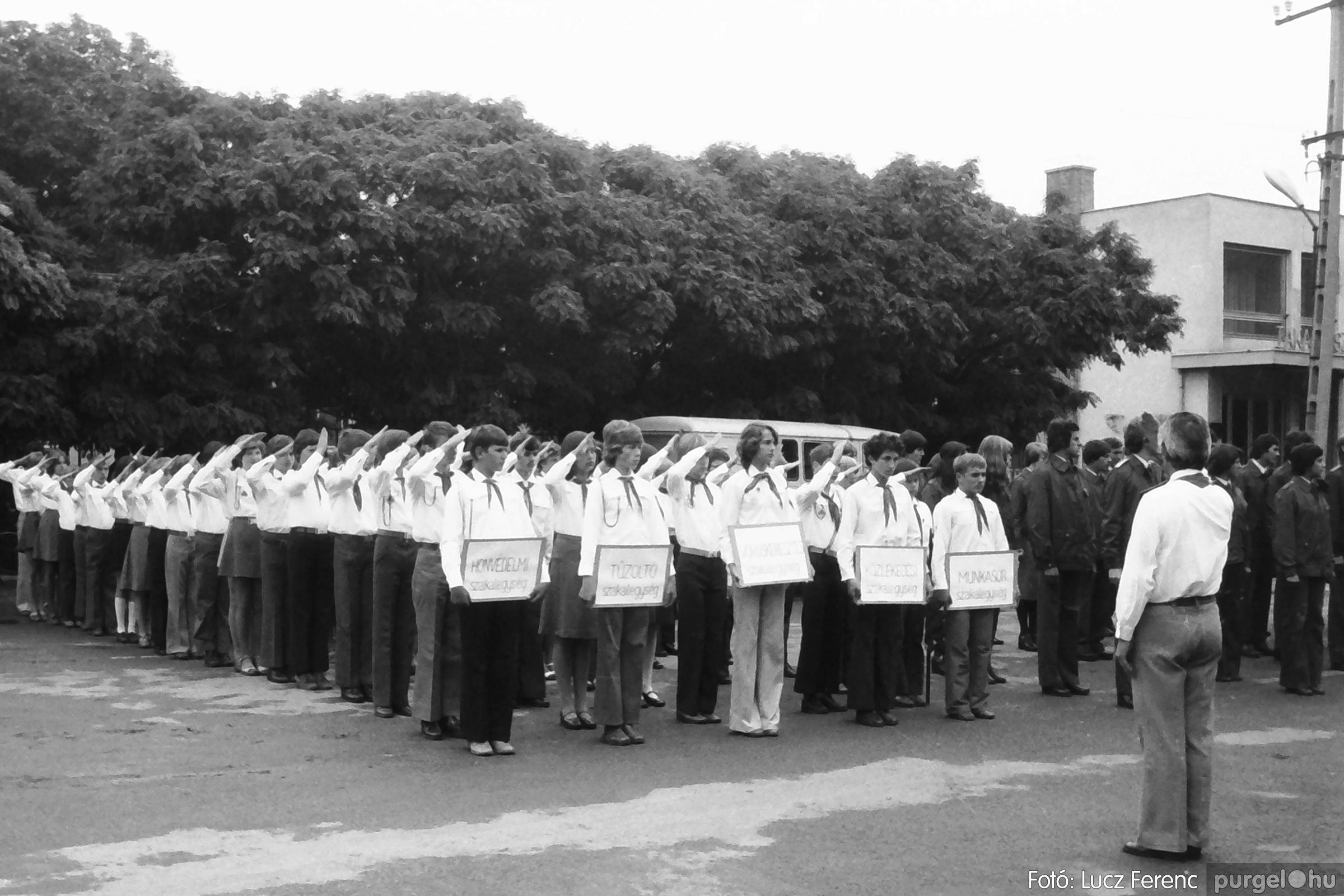 090. 1977. Úttörő gárda - ifjú gárda seregszemle 011. - Fotó: Lucz Ferenc.jpg
