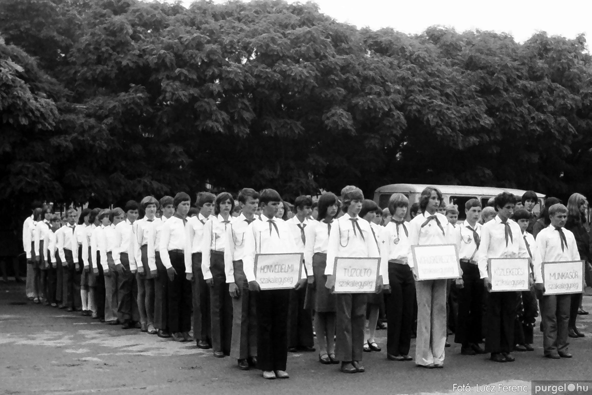 090. 1977. Úttörő gárda - ifjú gárda seregszemle 010. - Fotó: Lucz Ferenc.jpg