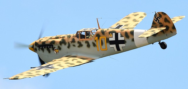 Hispano HA-1112 M4L Buchon Yellow 10 G-AWHK in Temporary colours