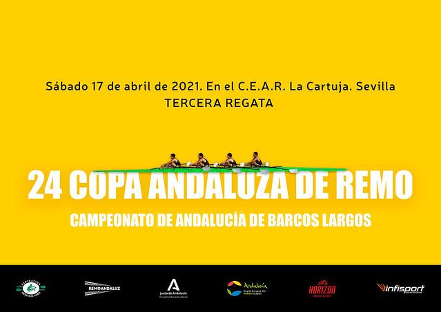 cartel 24 copa andaluza de remo tercera