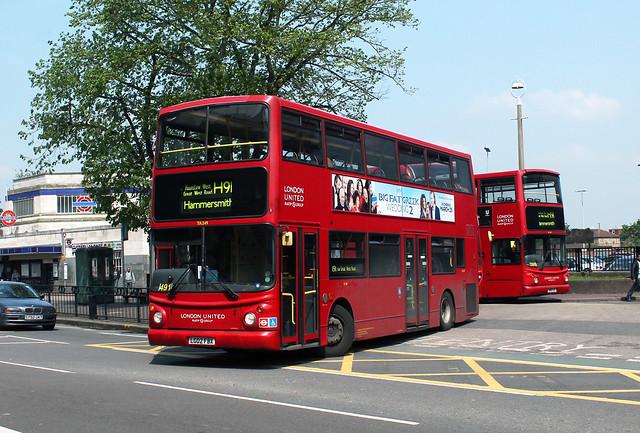 Route H91, London United, TA249, LG02FBX
