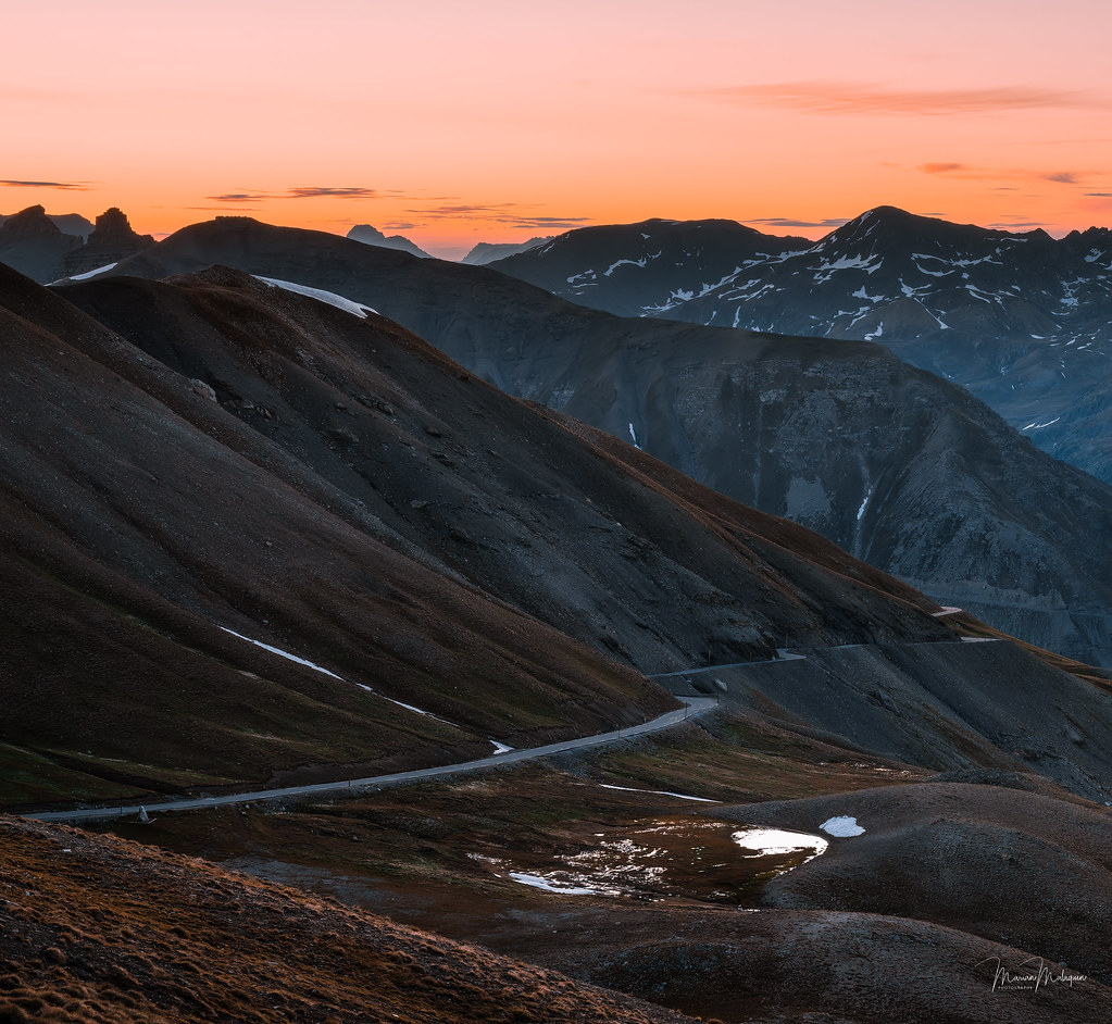 Follow the road to the pass