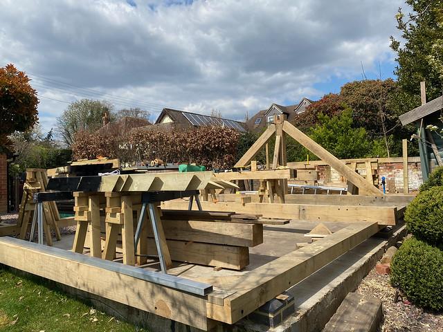 Preparing for raising the barn