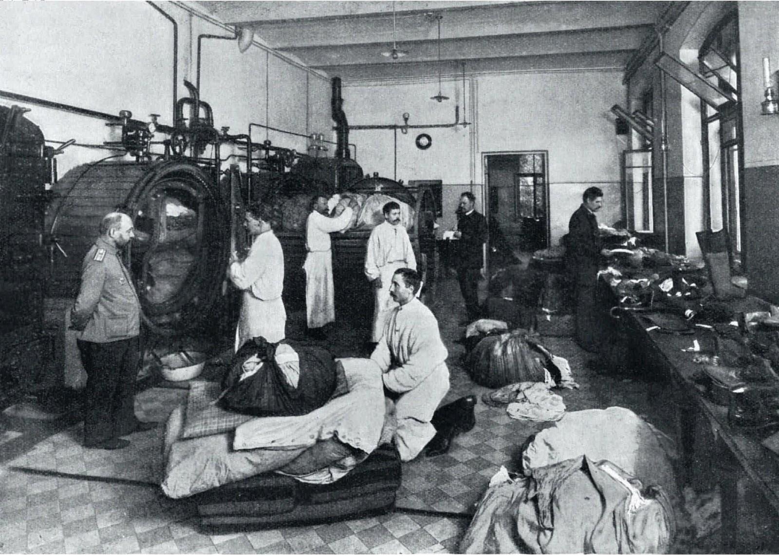 1908. Эпидемия азиатской холеры в Санкт-Петербурге. Дезинфекция вещей больных