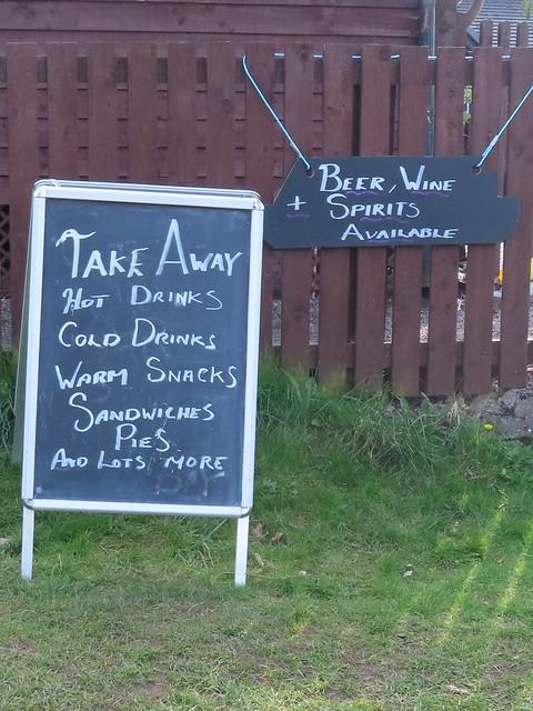 Take-away menu @ 19th hole.