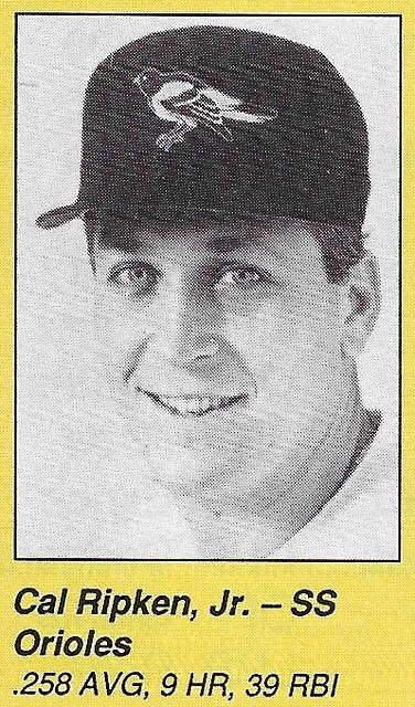 1990 All-Star Program Inserts - Ripken Jr, Cal
