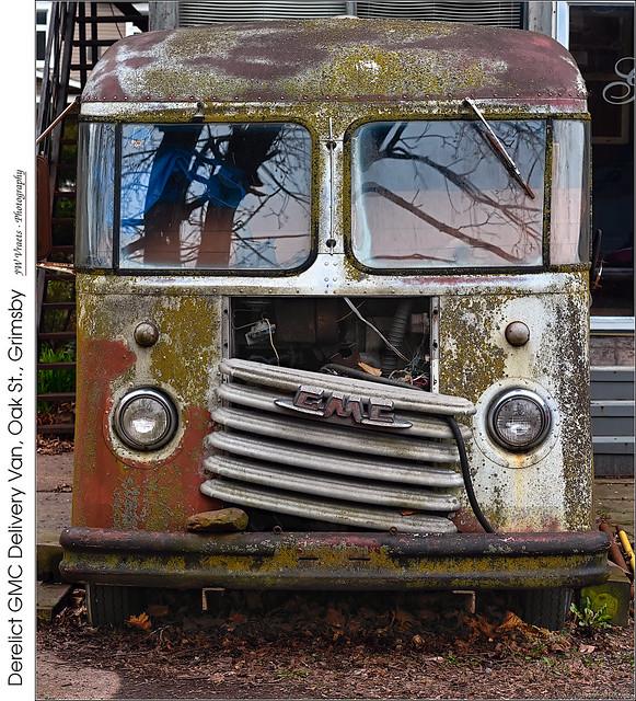Derelict GMC Delivery Van, Oak St., Grimsby
