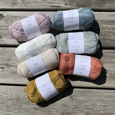 Sandnes Garn Tynn Line has landed in the shop! This lovely combination of cotton, linen and viscose has the drape and structure of linen with the softness and workability of cotton.