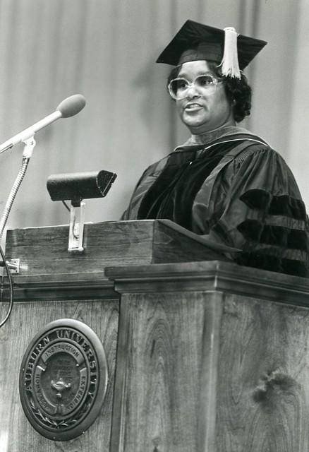 Bessie Mae Holloway at Auburn graduation.