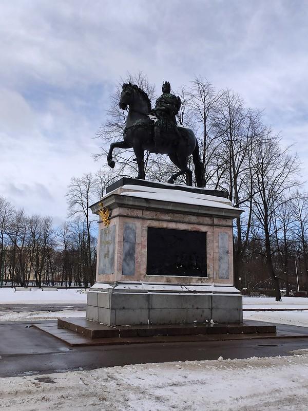 Санкт-Петербург - Михайловский замок - Памятник Петру Первому