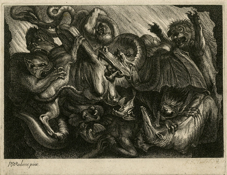 Jonas Suyderhoef  - Hell, After Rubens, 1623