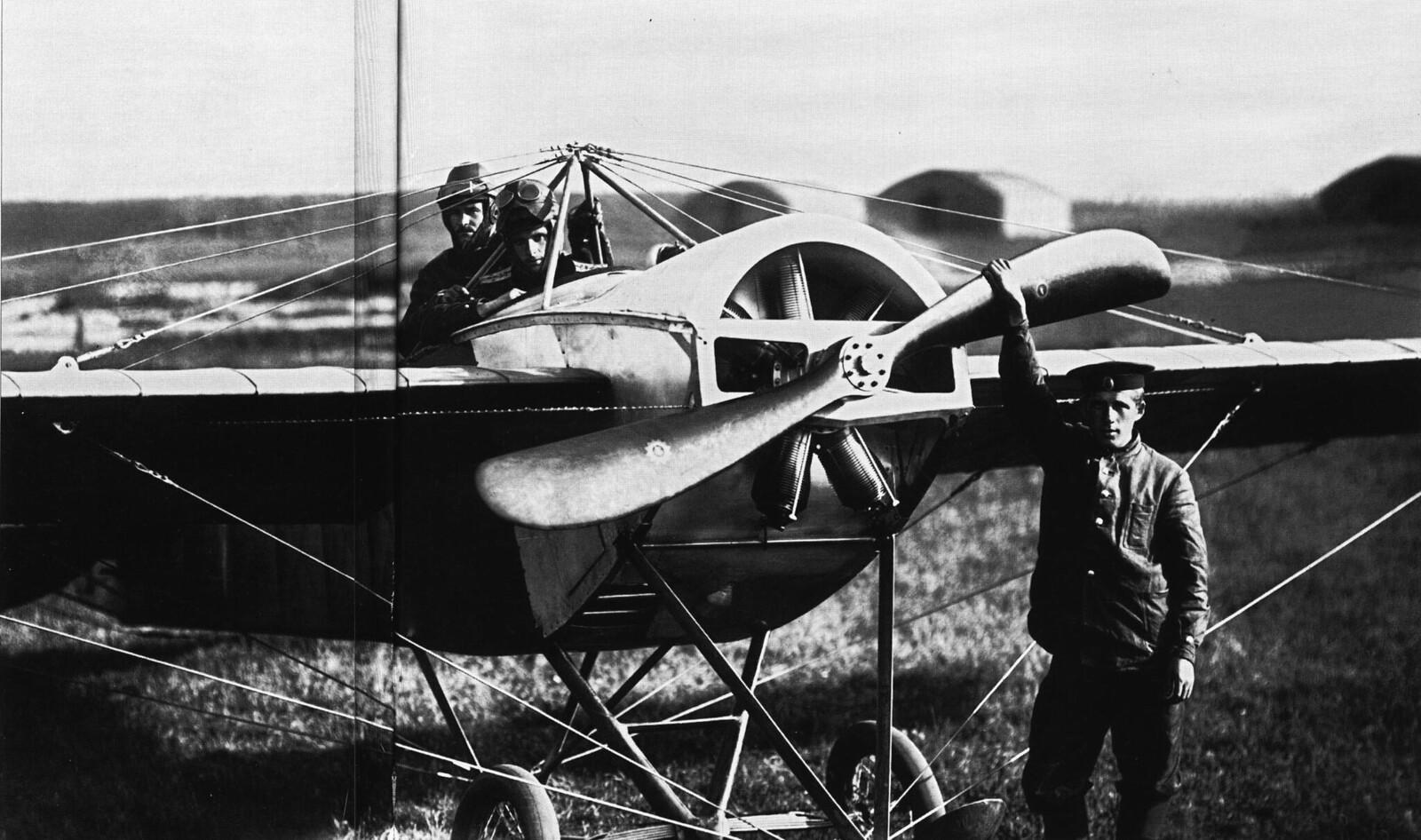 1913. Перед вылетом. Гатчинская авиашкола