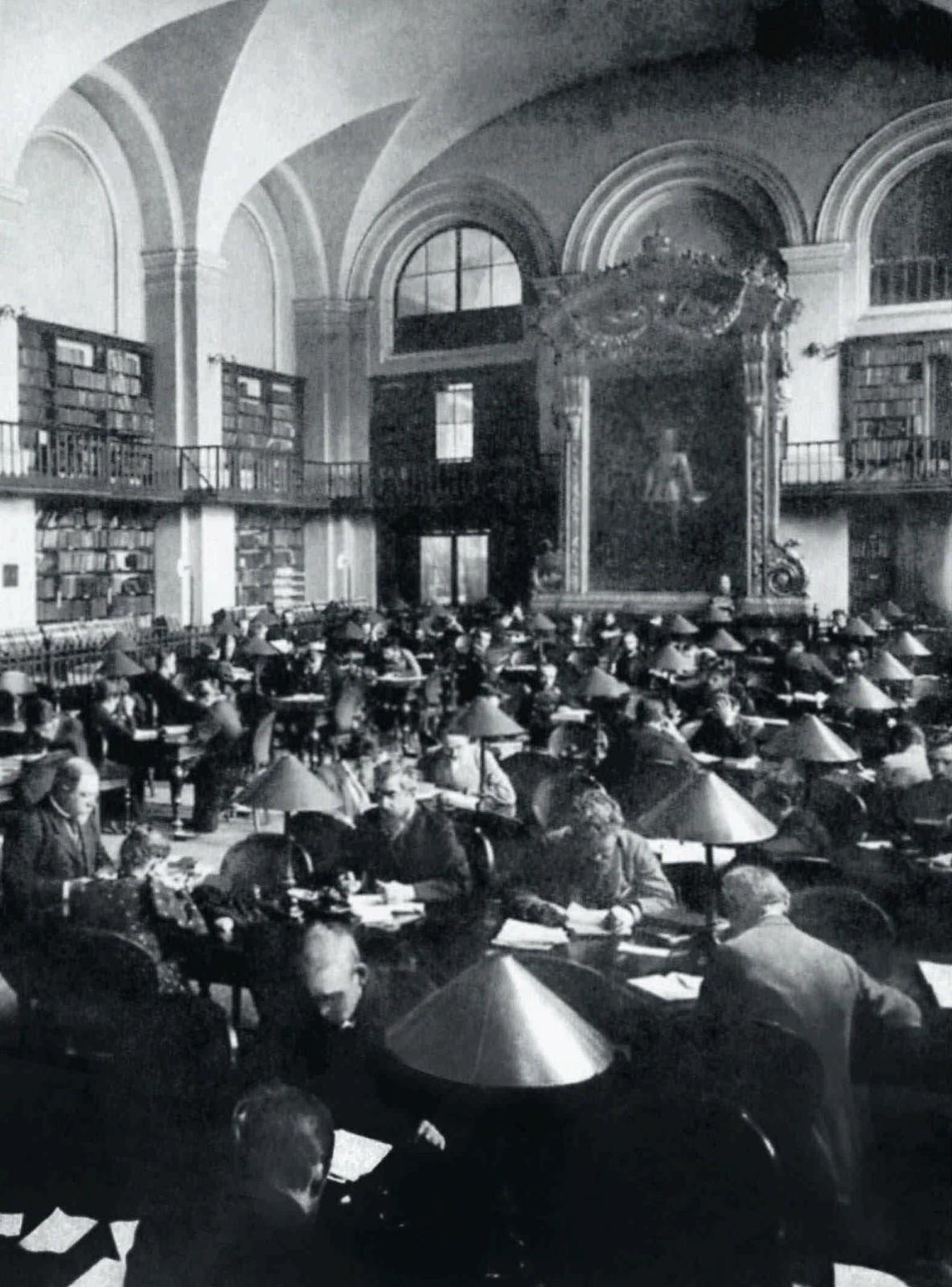 1895. Большой зал Императорской публичной библиотеки