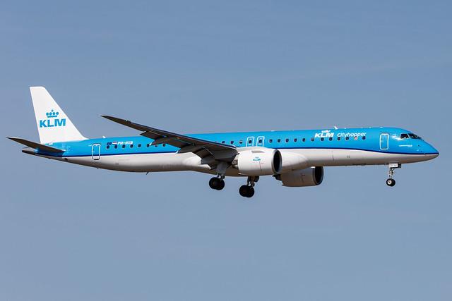 Hamburg Airport: KLM (KL / KLM) | Operator: KLM Cityhopper |  Embraer E195-E2 E295 | PH-NXB | MSN 19020047