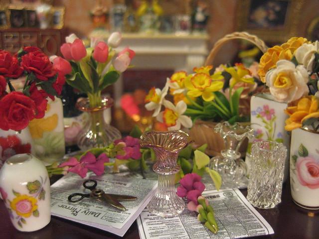 Lady Southgate Arranges the Flowers