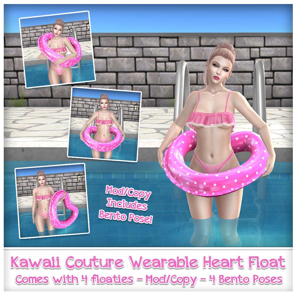 Kawaii Couture – Polka Dot Heart Floaties Ad Pink