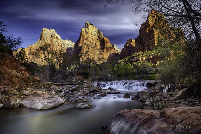 1st offering from our Utah NP trip. Court of the Patriarchs and Virgin River in Zion NP