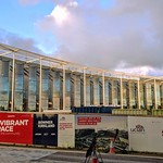 The constriction of the bew student building at the UCLan university at Preston