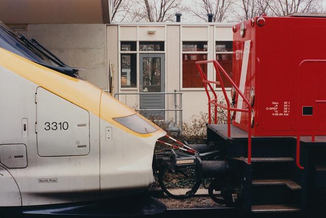 Koppeling Eurostar 3310 en 6511 te Rotterdam - 7 april 1996