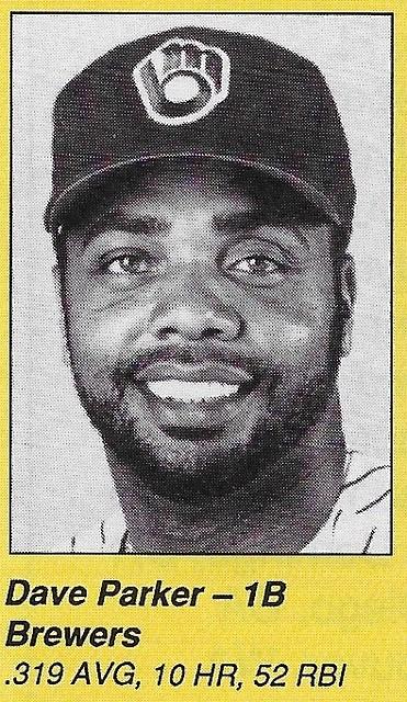 1990 All-Star Program Inserts - Parker, Dave